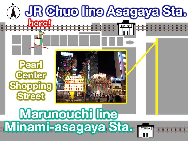 Asagaya map