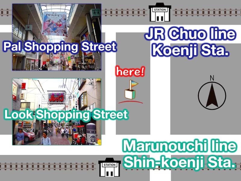 Koenji map